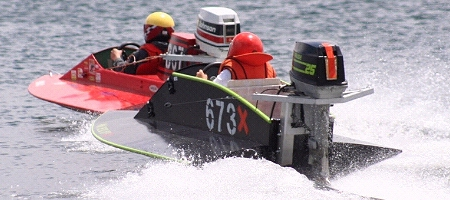 For Mobile Users: Mini GT Outboard Powerboat Racing